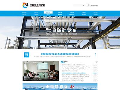 网站建设案例,中国管道保护网